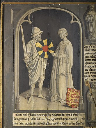Ælfthryth, Countess of Flanders - 15th century depiction of Baldwin II of Flanders and Ælfthryth of Wessex