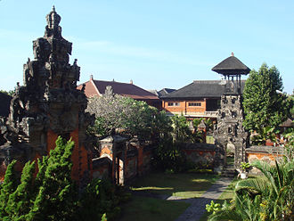 Bali Museum - Bali Museum, inside courtyards and gates, seen from the belvedere