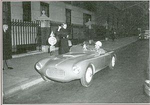 Bandini 1100 - The driver Giovanni Bracco in New York City