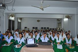 Bangla Wikipedia School Program at Agrabad Government Colony High School (Girls' Section) 70.JPG