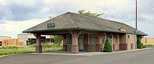 Banks, Oregon - Railway depot in Banks