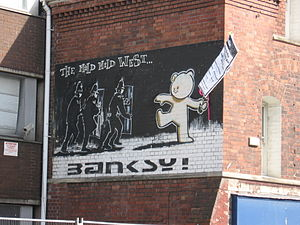 Works by Banksy that have been damaged or destroyed - The Mild Mild West in 2007
