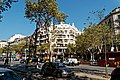 Barcelona - Passeig de Gràcia - View North towards Casa Milà 1912 Antoni Gaudí.jpg