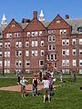 Barefoot Monkeys juggling on the Vassar residential quad, April 2012.jpg