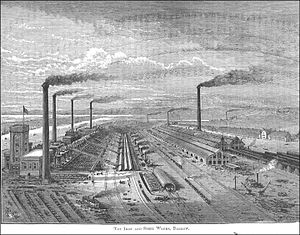 Second Industrial Revolution - The Barrow Hematite Steel Company operated 18 Bessemer converters and owned the largest steelworks in the world at the turn of the 20th century.