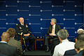 Barry Pavel, right, the director of the Brent Scowcroft Center on International Security, asks U.S. Army Chief of Staff Gen. Ray Odierno a question during a forum with members of the Atlantic Council 130529-A-AO884-004.jpg