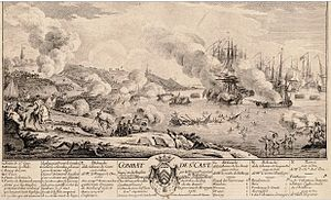 Battle of Saint Cast - Image: Bataille de Saint Cast 1758 par Ozanne