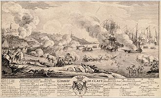 Battle of Saint Cast - Engraving by Nicolas Ozanne
