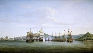 Bataille de Sainte Lucie entre d'Estaing et Barrington 1778 - BHC0422,.jpg