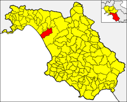 Battipaglia within the Province of Salerno and Campania