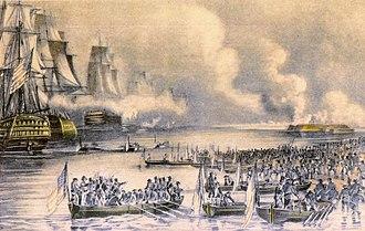 Siege of Veracruz - The amphibious assault on Veracruz