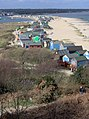 Beach chalets at Mudeford Sandspit, from Hengistbury Head - geograph.org.uk - 269615.jpg