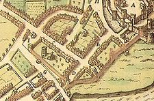 Beaumaris walls in 1610.jpg