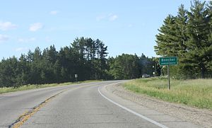 U.S. Route 141 - Headed northward into Beecher, Wisconsin