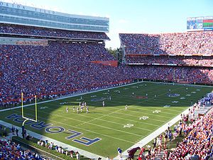 2006 Florida Gators football team - An image from the South Carolina game.