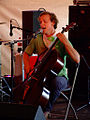 Ben Sollee at the Cafe Where tent at Bonnaroo 2009 on Friday.jpg