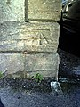 Benchmark on the Pen Mill Hotel - geograph.org.uk - 2284902.jpg