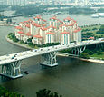 Benjamin Sheares Bridge, Singapore, From Singapore Flyer2.jpg