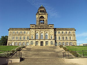 English: Wallasey Town Hall, Wirral, England a...