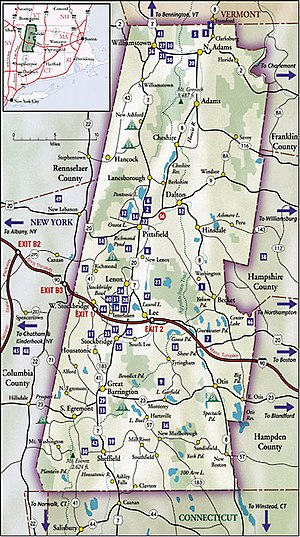 Berkshire County, Massachusetts - Map of Berkshire County