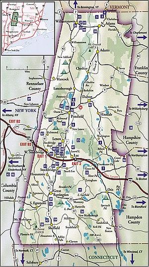 Berkshire County, Massachusetts - Map of Berkshire County