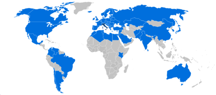 Map of international trips made by Berlusconi as Prime Minister. Berlusconi foreign trips.png
