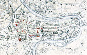 Kochergasse - Old City of Bern with Kochergasse highlighted