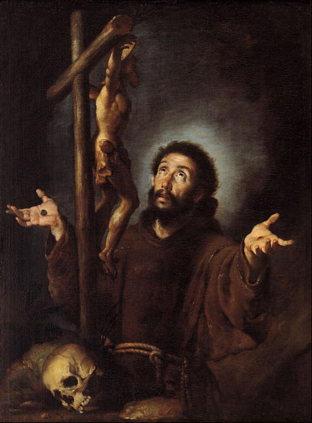 File:Bernardo Strozzi - St Francis of Assisi adoring the Crucifix - Google Art Project.jpg
