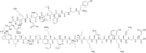 Kemia strukturo de Betao-endorfino.