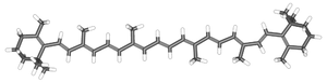 Carotene - β-Carotene represented by a 3-dimensional stick diagram