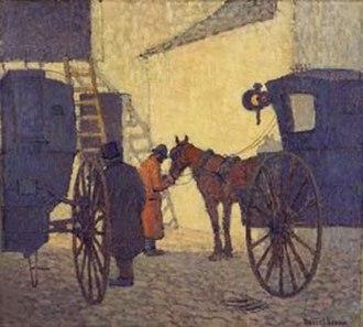 Robert Bevan - The Cabyard, Night, 1910