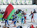 Biathlon at the Winter Olympics Games 2010 - women's mass start.jpg