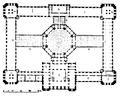 Biblioteksbyggnader, Grundplan af kongressbiblioteket i Washington, Nordisk familjebok.png