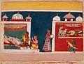 Birth of Bharata, Lakshmana, and Shatrughna, Folio from a Ramayana (Adventures of Rama) LACMA M.83.105.13.jpg