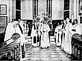 Bishop C.K. Jacob presiding over the inauguration of the Church of South India, in 1947 (available freely in public domain).jpg