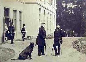 Friedrichsruh - Bismarck and Emperor Wilhelm II in Friedrichsruh, 1888