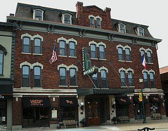 National Register of Historic Places listings in Black Hawk County, Iowa - Image: Black Hawk Hotel Cedar Falls IA pic 2
