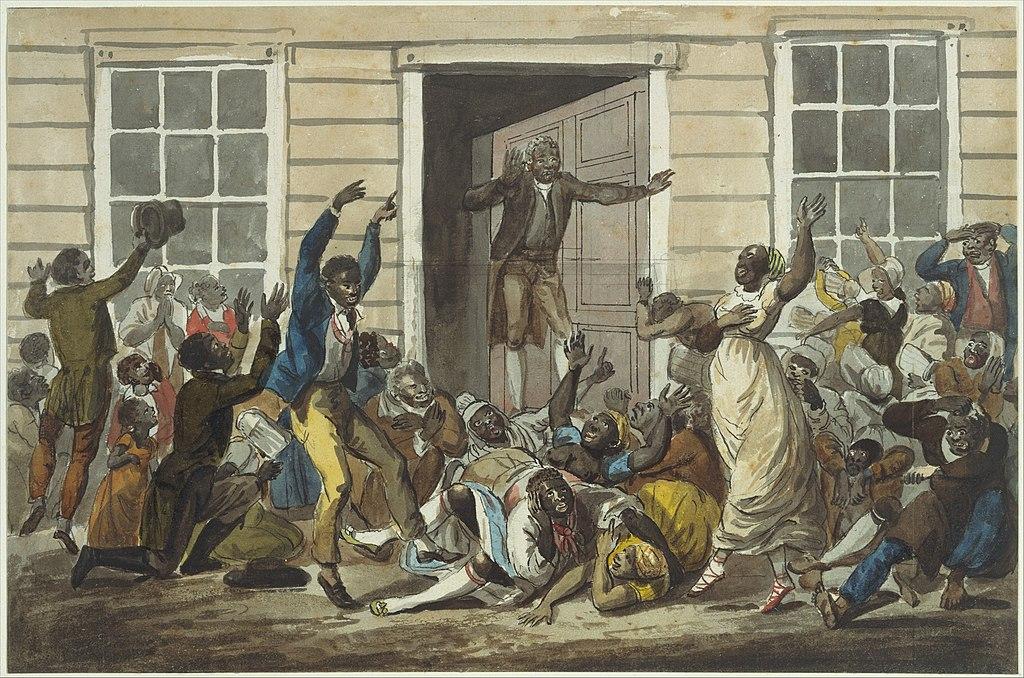 Black Methodists Holding a Prayer Meeting MET DT1808
