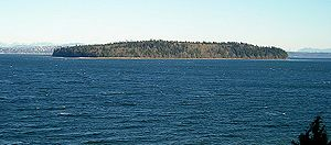 Blake Island - The island seen from the west