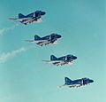 Blue Angels F-4J Phantoms in flight 1969.jpg
