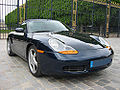 Photo du Boxster 986 Phase 1, avec ses clignotants orange.
