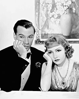 Gary Cooper and Claudette Colbert