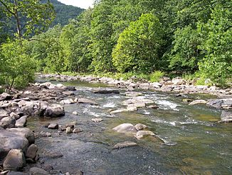 Bluestone River im Pipestem Resort State Park