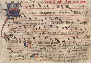 Guiraut Riquier - Song of Riquier in a 13th-century chansonnier.