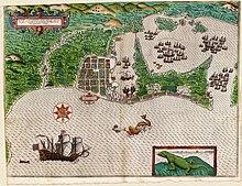 Карта Картахены - 1589 год.  Департамент Боливар является одной из старейших административных единиц страны.