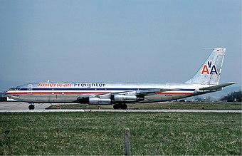 January 25: Boeing 707 begins service Boeing 707 of American Airlines at Basle - April 1976.jpg