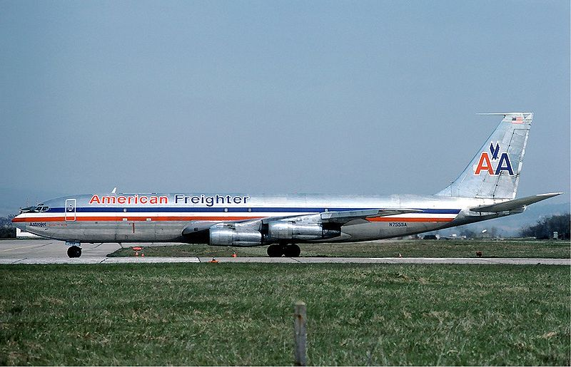 Avion de ligne American Airlines en Avril 1976