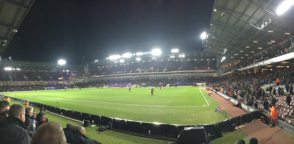 Boleyn Ground at Night
