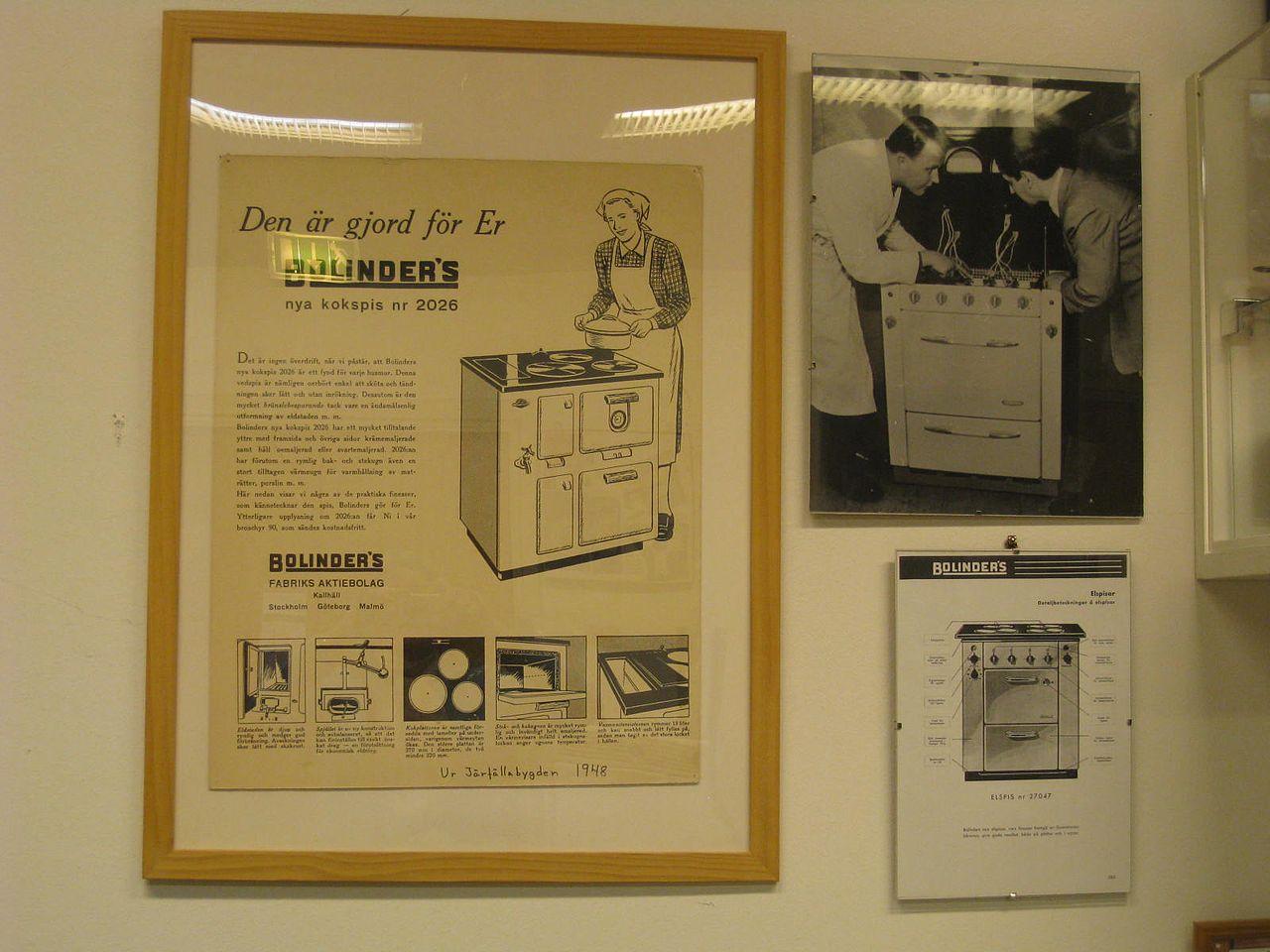 Inredning spis med häll : File:Bolindermuseet, vedspis, Bolinders nya kokspis nr 2026, 1940 ...