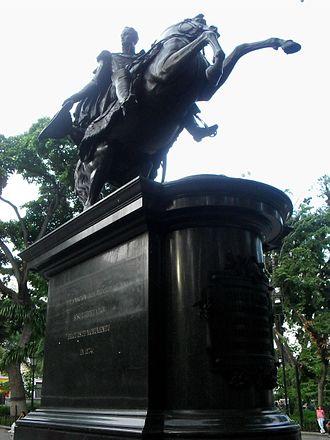 Bolivar Plaza (Caracas) - Equestrian statue of Simón Bolívar in Bolívar Square.